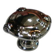 Cabinet Knob - 30mm - Polished Silver &