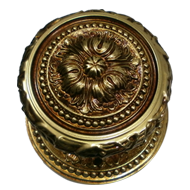 Door Knob with Rose - Old Gol
