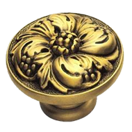 Botticelli Cabinet Knob - 42mm - Old Gold Finish