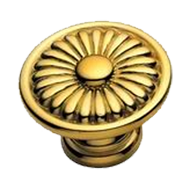 Classical Cabinet Knob 30mm in Old Gold