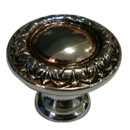 Cabinet Knob - 40mm - Polished Silver &