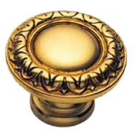 Cabinet Knob - 40mm - Old Gold Finish