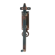 Tower Bolt - 250mm - Antique Rust Finish