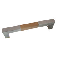 Door Pull Handle - Beige wood with SS Finish - 25X25X300mm