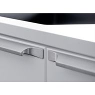 PRIMO Cabinet Handle - Aluminum Inox Look - 439mm Modern Design
