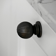 BANISTER Cabinet Knob - Antique Brown -