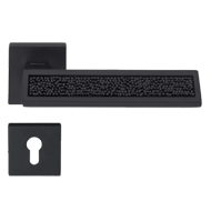 RIFLESSO ROCKS Lever Handle in Crystal Black Matt Finish