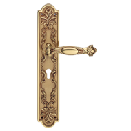 Queen Big Door Lever Handle on Plate Ma