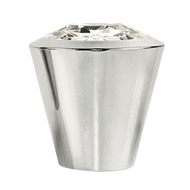 Swarovski Cabinet Knob - 16mm - Crystal with Chrome Finish