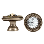 Swarovski Cabinet Knob - 30mm - Antique Bronze Finish