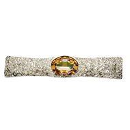 Jewel Collection Cabinet Handle  - 128mm - Silver Lux Finish