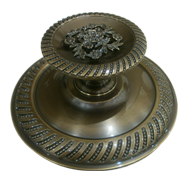 Door Knob in Antique Bronze F