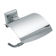 Paper Holder with Lid - Chrome Plated