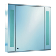 Door Cabinet with both side light - 60X60X13cm - Chrome Plated