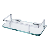 Front Glass Shelf  - 16X5 Inch - Chrome Plated