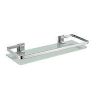 Front Shelf with toughen glass - 20X6 Inch - Chrome Finish
