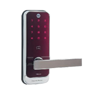 Yale Digital Door Lock with PIN Code, Proximity Card Key & Remote Control - Wine Red