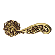ROCOCO Lever Handle on Decorative Rose