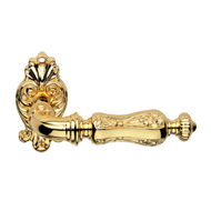 SOLEIL Lever Handle on Decorative Rose