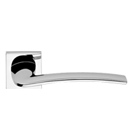 ALA Lever Handle on Rose in Chrome Fini
