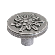 Cabinet Knob - 22mm -  Antique Silver F