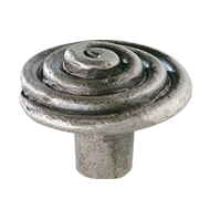 Cabinet Knob - Antique tin effect Finis