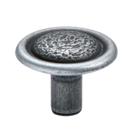 Cabinet Knob - Antique Silver Finish -