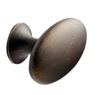 OVAL SIMPLE Cabinet Knob - 60mm - Antiq
