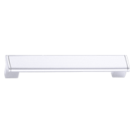 Modern Cabinet Handle - 160mm -  White