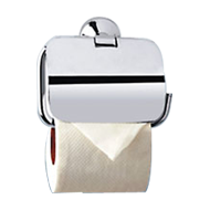 NEW DOLPHIN COLLECTION - Toilet Paper Holder with Flap -  Chrome Plated Finish