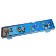Mickey Mouse Cabinet Handle - Multicolor/Chrome Finish - 96mm