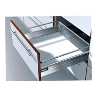 Tandem Box Plus Full Extn - Grey - High Fronted Drawer - 500mm - B Height 160 mm