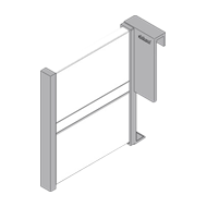 ORGA-LINE Longside Divider for TANDEMBOX intivo High Fronted Pullout - Stainless Ste