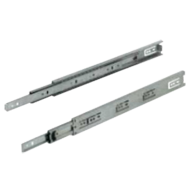 Drawer Runners Ball Bearing Slides Side Mounted Full Extension - 450mm - Zinc Plated
