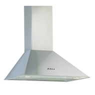 Wall Mounted Built-in Chimney Platinum - 60cm - Stainless Steel Finish