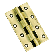 Brass Railway Hinge - 75x52x3mm - Gold Satin Finish