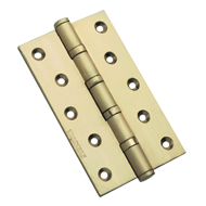 Plain Tip-Bearing Brass Hinge - 125x75x4mm - Gold Satin Finish