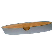 Cabinet Handle Aluminum / Natural Lacquer Finish - 96mm