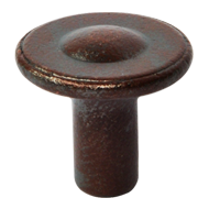 Cabinet Knob - 30mm - Rust Finish