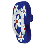 Cabinet Knob in Slipper Shape (Left) - 70mm - Blue (Multicolour) Colour
