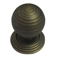 Rialto Door Knob - Yester Bronze Finish - 55mm