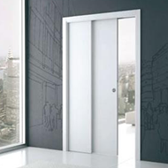 Telescopic Door Sliding Fitting for 2 Door - 40 Kg Per Door with 6 Mtr. Track - Made