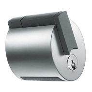 Forma Automatic Release Tubular Lock - Enamelled Silver Finish