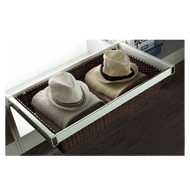 Cane Drawer Basket with Silent Soft Clo