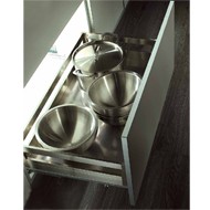 Door Mount Basket with Silent Soft Closing - 450mm - SS Finish