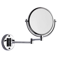Round Cosmetic Mirror  - Polished Chrome Finish