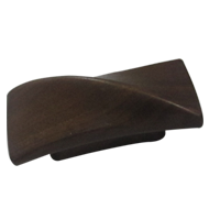 TWIST Cabinet Knob - 32mm - Wood Walnut Lacquered Colour