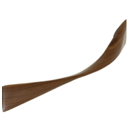 TWIST Cabinet Handle - 224mm - Wood Walnut Lacquered Colour