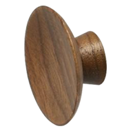 Wooden Round Furniture Knob in Walnut L