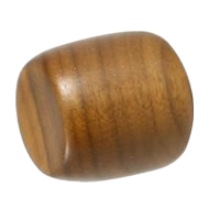 APPLE Cabinet Knob (Small) - 30mm - Wood Walnut Lacquered Colour